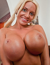 Blonde pornstar with huge tits