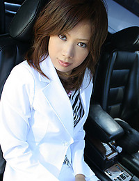 Japanese girl in business suit