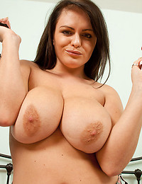 Incredibly Busty Victoria Squeezes Tits