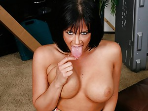 Raven Haired Tory Sucks And Fucks Wang