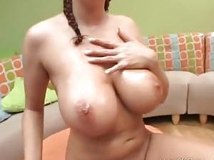 Big wet jiggling tits look super hot