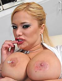 Busty Blonde Nurse Bounces On Dick