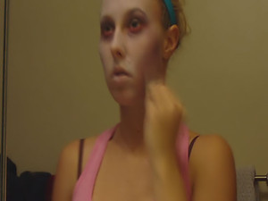 Rachel Sexton - This Halloween Rachel wants to be a zombie - go ahead and see the whole process of turning a sweet teenage girl into a scary bitch with some makeup!