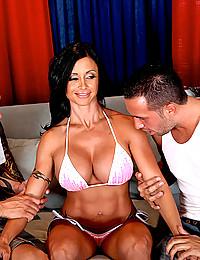 Busty Latina Cougar Jewels Banged
