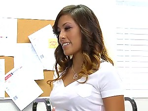 Asian schoolgirl teen Alliyah Sky shaved pussy fucked