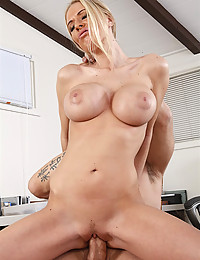 Busty Blonde Mistress Seduces Her Officemate