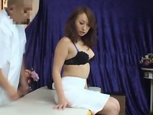 Massaging a Hot Asian MILF