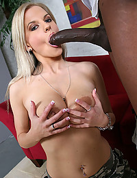 Huge black dick nails blonde