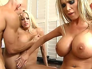 Slutty Blonde Agents Fuck An Impostor In A Threesome To Find The Real Johnny