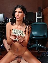 Latina paid for big cock sex