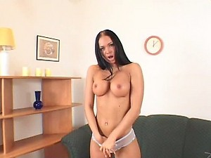 Mouthwatering Brunette Christine Roberts Gets Fucked and Facialized