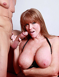 Busty Cougar Smothers Fat Dick