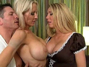 Brynn Tyler and Emma Starr Fucking Two Cocks In Foursome