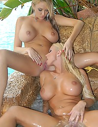 Two Seductive Blonde Babes Play Naughty