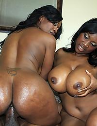 Ladies sharing large black cock