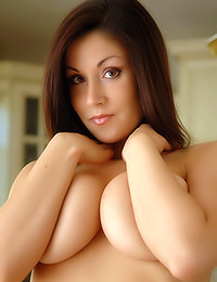 Sweet Krissy - Alluring chick posing like a slut in her kitchen