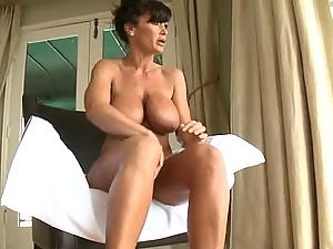 Hardcore Anal Sex after Massage for Chesty Brunette MILF Lisa Ann