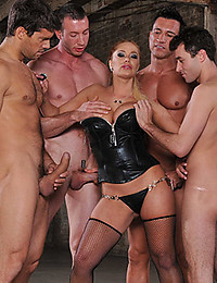Horny Blonde Gets Ganged On