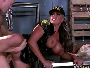 Insanely Hot Blonde MILF Carmen Jay Gets Banged In a Tight Uniform