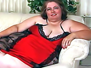 Huge girl in sexy lingerie