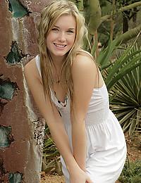 Perky Blonde Teen Jewel Flaunts Butt