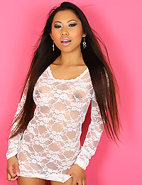 White lace on Asian girl