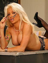 Horny slut loves big cock