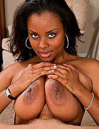 Black girl takes white dick