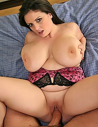 Long cock in curvy brunette