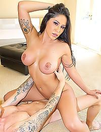 A fucked big tits hottie