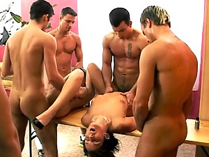 Hot bisex orgy with toys, strap ons, cute guys and hot girls