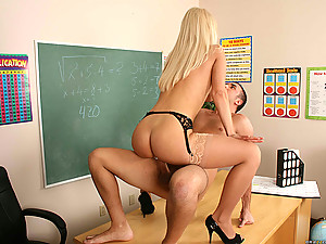Beautiful Teacher Nomi Rides Student