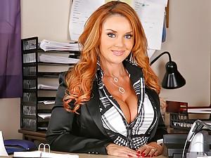 Janet Mason Fucking Her Large Boss