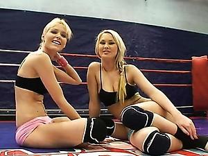 NudeFightClub backstage with Antonya & Sophie Moone