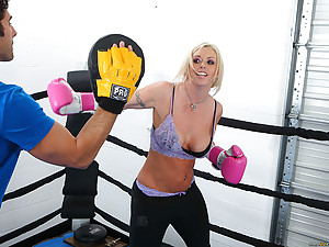 Boxing ring hardcore with blonde