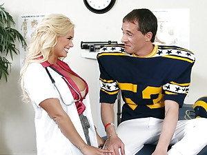 Seductive Nurse Shyla Tugs And Fucks
