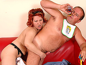 Judit Strapon Fucks Adult Diaper Man
