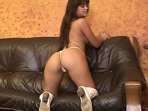 Spectacular Brunette Teen Crams a Dildo Up Her Wet Pussy and Round Ass