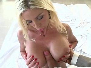 Big Tittied Blonde Loving Her Future Boss' Cock