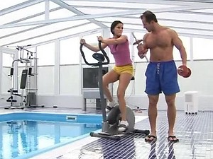 Sporty Teen Fucks Her Personal Trainer