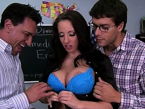 Tattooed Teacher Kelly Devine Gets Double Penetrated and Facialized