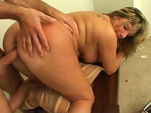 Hot Blonde Mature BBW Housewife Takes This Guy to Heaven