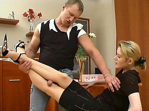 Ninette&Adrian great nylon feet video