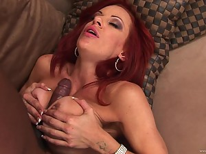Hot Redhead MILF Shannon Kelly Fucked In The Ass By Big Black Cock