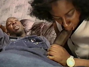 Big Ebony And Her Massive Boobs Pleasure a Black Cock