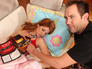 Porn Pros Network - Todd Todd met a perfect 18 year old redhead slut in his TV production class. After class they went back to her place and studied all night! After long hours of hitting the books, Rita knocked out in her panties on the couch! Will came