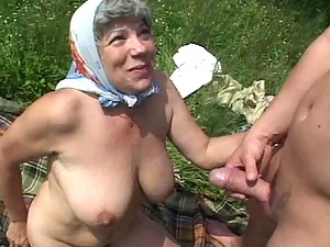 Granny Fucked in the Fields