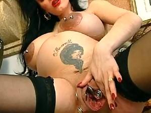 Pregnant. Monster Vagina. Extreme piercing.