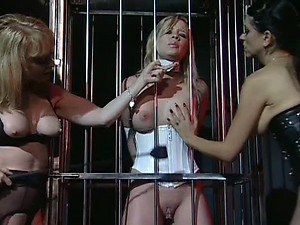 Insanely Hot Lesbian Dominatrix Fuck a Submissive Babe With a Strapon