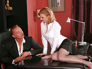 Slender Tarra Boned In The Office
